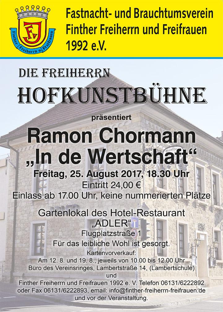 Die Freiherrn Hofkunstbühne präsentiert Ramon Chorman *In de Wertschaft*